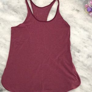 Lululemon Racerback Tank Heathered Bordeaux Size 8